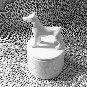 Two's Company ceramic doberman